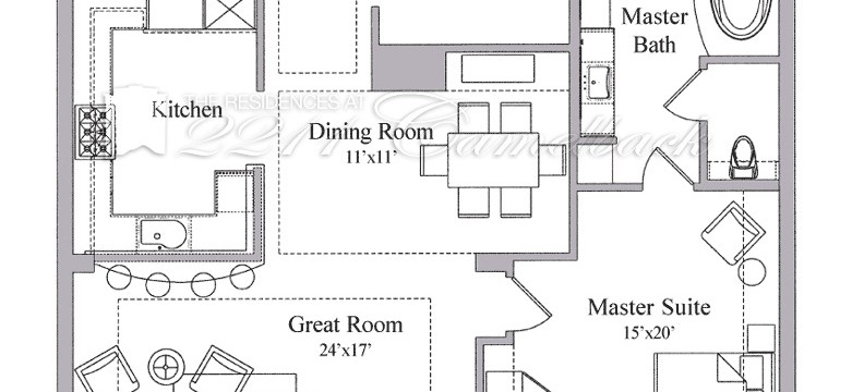 Floor Plan B1 The Residences At 2211 Camelback