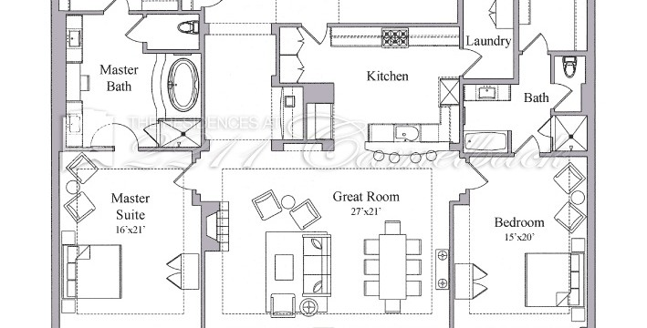 floor plan f2 the residences at 2211 camelback. Black Bedroom Furniture Sets. Home Design Ideas
